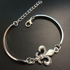 hand made fine silver Mardi Cuff Bangle Bracelet Jewelry Hallowmas