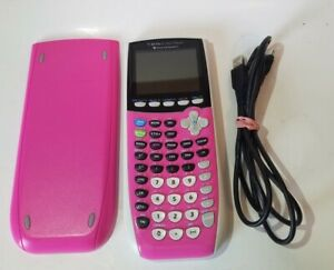 Texas Instruments TI-84 Plus C Silver Edition Graphing Calculator Pink - Charger
