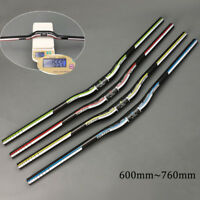 Carbon Fiber MTB Bicycle Riser Bar Cycling Handlebar 31.8*600-760mm Superlight