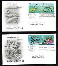 #2863-2866 32c Wonders of the Sea - Set of 4 on 2 PCS FDCs w/ Info Page