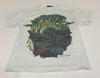 Vtg Godzilla Movie 1998 Promo T Shirt Youth Large Distressed Stained