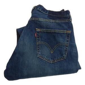 Mens Levi Strauss 501 Straight Leg Jeans Waist 34 Leg 32 Button Fly (P3591)