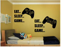 XBOX PS4EAT SLEEP GAME vinyl wall Stickers Decals  childrens den bedroom gaming