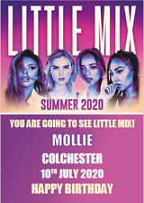 Little Mix Tickets Card Summer Tour 2020 Concert Show Personalised Birthday A5