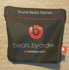 Original Soft Case for Monster Beats by Dr Dre iBEATS In Ear Headphones - Black