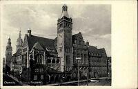 Chemitz Sachsen alte s/w Ansichtskarte ~1940 Partie am Rathaus am Neumarkt