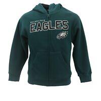 Philadelphia Eagles Official NFL Youth Kids Size Full Zip Hooded Sweatshirt New