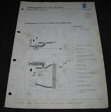 Technische Information Werkseinbau Luftheizgerät D 1 LC D3LC in MAN F 2000 LKW!