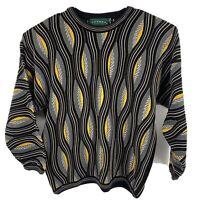 Vtg Tundra Canada Size XL Mercerized Textured Multicolor Cosby Sweater