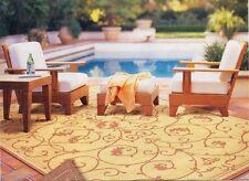4 Pc Teak Wood Garden Outdoor Patio Lounge Chair Set New - Caranas Dining Deck