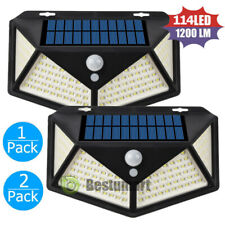 3-Modes 114 LED Solar Lamp Outdoor Garden Yard PIR Motion Sensor Wall Light IP56