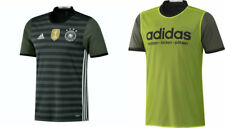 adidas Men's Germany 2016 2017 Away Soccer Jersey, Dark Grey/White/Green, Size S