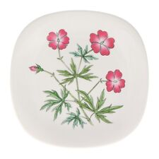 A Rorstrand Geranium wall plate Swedish floral pottery