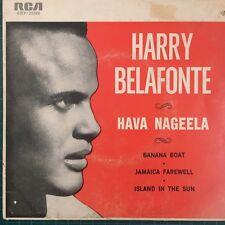 "HARRY BELAFONTE - Hava Nageela 4 Track  E.P. 7"" Vinyl 45rpm Single 1960"