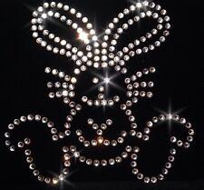 Easter Bunny Rabbit Crystal Iron On Transfer Rhinestone Motif 4 Fabric Costumes