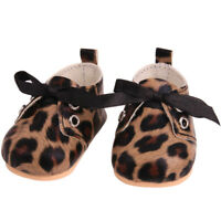 Doll Shoes Fashion Leopard Print Shoes Toy Accessories Fit 18 Inch Girl Doll