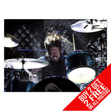 DAVE GROHL ON DRUMS FOO FIGHTERS POSTER PRINT A4 A3 -BUY 2 GET ANY 2 FREE