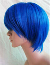 VOCALOID KAITO Short Blue Straight Cosplay Wig