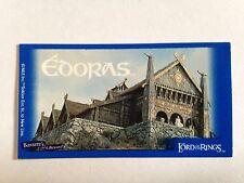 Lord Of The Rings - Bassett / Barratt Trading Cards - Edoras - Cigarette Cards