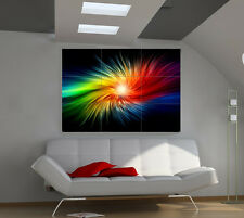 Rainbow Lightning large giant 3d poster print photo mural wall art ia136