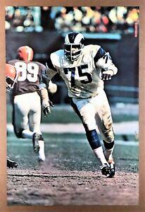 """DEACON JONES"" (1969) *NFL FOOTBALL POSTER* - ""Fearsome Foursome"" Team *LA RAMS*"