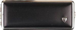 Vom Hofe Cigarette Case 100er / Leather Black/2seitig/Rubber Band
