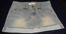 "HYDRAULIC WOMEN'S BLUE MINI JEAN SKIRT Size 9/10 (Waist--31"")"