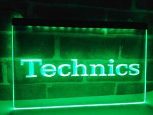 Technics Turntables DJ Music NEW LED Neon Light Sign home decor crafts
