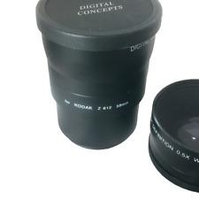Digital Concepts Hi Def Pro 2x Telephoto; 0.5 Wide Angle; Adaptor 58mm;