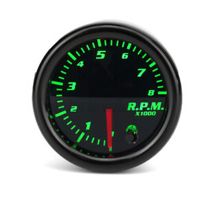 "2"" 52mm Universal Car Tachometer Tacho Gauge Meter 0-8000RPM 7 Color LED"