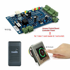 New RFID Card Reader+TCP/IP Door Access Controller Panel+Exit Button Switch co