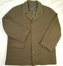NAUTICA Olive Green Wool Peacoat Long Jacket Men's Large XL 50
