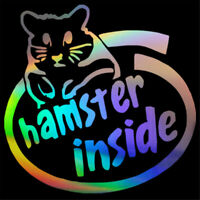 Hamster Inside Funny Decal Car Window Bumper Laptop Motorcycle Vinyl Sticker