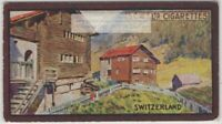 Swiss Chalet House Home Architecture  1920s Ad Trade Card