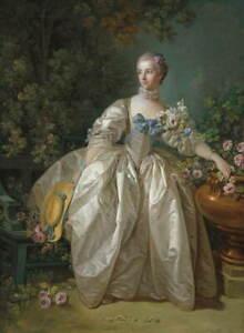 Francois Boucher Madame Bergeret Giclee Art Paper Print Poster Reproduction