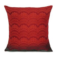 Red Floral Throw Pillow Case Decorative Polydupion Cushion Cover Case Home Decor