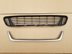 2PC Set 2013-2016 VENZA Front Bumper Lower Grille & Silver Molding NEW PAIR