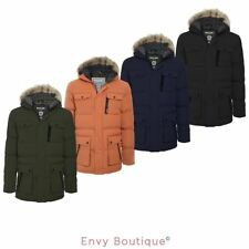 Brave Soul Puffer Hooded Coats & Jackets for Men