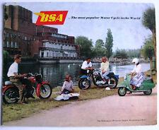 BSA RANGE - Motorcycle Sales Brochure - Reprinted 1961 - #MC 1242-125-100