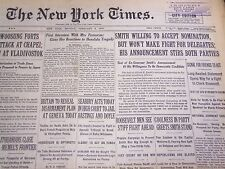 1932 FEBRUARY 8 NEW YORK TIMES - SMITH WILLING TO ACCEPT NOMINATION - NT 4777