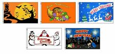 3x5 Seasonal Holiday 5 Flag Bundle Wholesale Set 3'x5'