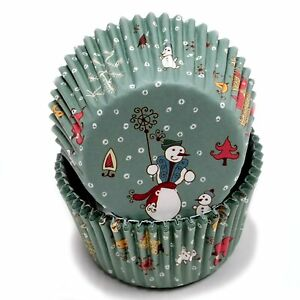NEW Chef Craft 100 Count (2 packs) Christmas Snowmen Cupcake Liners #21821