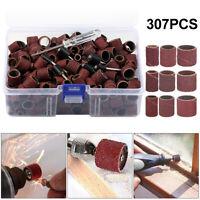 307x Drill Band Sanding Set tambours de canette 80-240 Grit pour Dremel Rotary