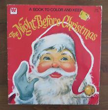 WHITMAN Vintage Coloring Book Night Before Christmas Florence Sarah Winship