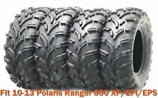 Set 4 ATV Tires 25x10-12 & 25x11-12 for  10-13 Polaris Ranger 800 XP/EFI/EPS