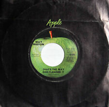 "BILLY PRESTON - THAT""S THE WAY GOD PLANNED IT - 1969 Apple 7"" 45 Single  Beatles"