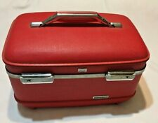 VINTAGE AMERICAN TOURISTER Hard Train Case RED