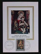 VATICAN MK 1971 MADONNA & JESUS CHRISTUS MAXIMUMKARTE MAXIMUM CARD MC CM c6305