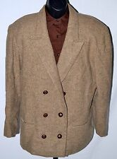 Vintage Womens Pendleton Wool Brown Lined Two Button Blazer Jacket Coat Large