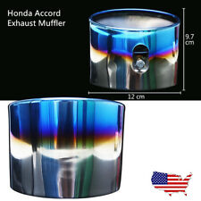 2Pc Chrome Stainless Steel Tail Pipe Exhaust Muffler Pipe For 08-12 Honda Accord